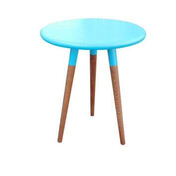 READY NOW Mid Century Inspired Round Side Table / End Table