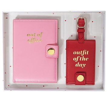 Out Of Office Passport Case & Luggage Tag Set