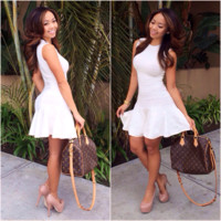 Sleeveless Fit & Flare Dress - Ivory | Fashion Nova