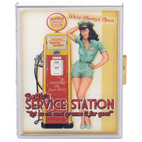 Bettie Page Service Station Cigarette Case - Unique Vintage - Prom dresses, retro dresses, retro swimsuits.