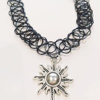 Gracie Sun Tattoo Choker Necklace