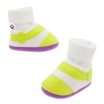 Licensed cool Disney Store Toy Story Buzz Lightyear COSTUME BABY Shoes BOOTS SLIPPERS 0-24M
