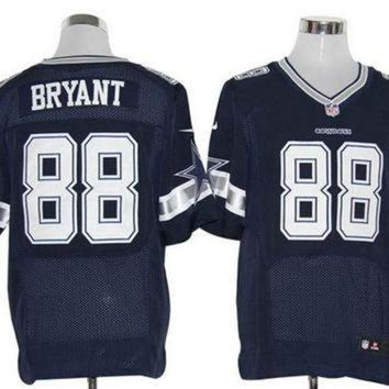 DCCK8X2 Nike Cowboys #88 Dez Bryant Navy Blue Team Color Mens NFL Elite Jersey