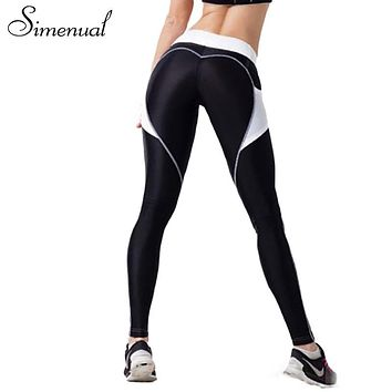 Simenual 2017 Push up heart pattern fitness legging activewear bodybuilding slim sexy leggings for women athleisure jeggings hot