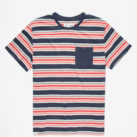 Captain Fin Bobby Mens Pocket Tee Navy  In Sizes