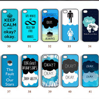 Phone cases, The Fault in Our Stars, iPhone 4 case, iPhone 5C case, Note 2 case, iPhone 5 case, Galaxy S5 case, Note 3 case--N0067
