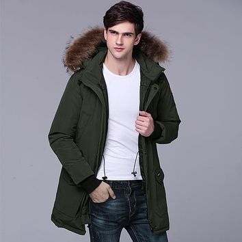 2017 New Arrival Men and Women's Winter Down Jacket Wool Hooded Local Brand Thick Clothing Popular America and Canada T635