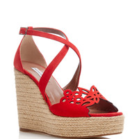 Clem Wedge in Red Kid suede