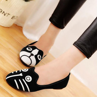 Women's shoes personality the cat dog shoes velvet flats