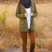 Baby It's Cold Outside Jacket: Olive Green