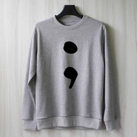 Semicolon Sweatshirt Sweater Shirt – Size XS S M L XL