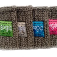 Best Soap Pouch/Felted Soap/The Best Exfoliator on the Market/Soapie ShoppeSoapie Family Four Pack