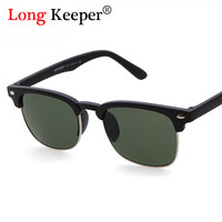 Long Keeper Cool Semi Rimless Brand Designe Sunglasses Women Square Sun Glasses Male Eyewares Accessories Lentes de sol S613