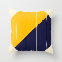 Yellow Blue Chamber Throw Pillow by spaceandlines