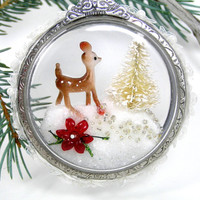 Handmade Deer Christmas Tree Ornament