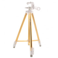 WT3041 Professional Ultralight Portable Aluminum Alloy Tripod for Digital Camera Golden - Default