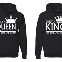 King And Queen valentines day Matching sweatshirts