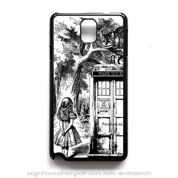 alice in tardis dr Who Samsung Note 3 Case, Samsung Cases