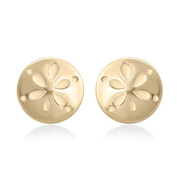 YAN & LEI Sterling Silver Sand Dollar Stud Earrings Color Silver