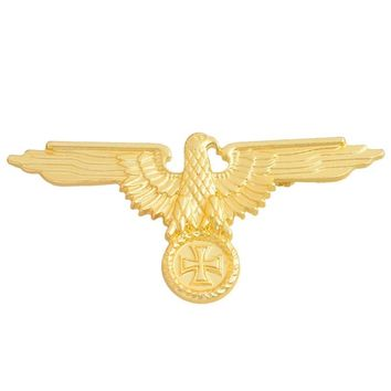 German Military Eagle Gold/Silver Brooches Badges Lapel Pin Brooches Cap Cockade Men's Jewelry