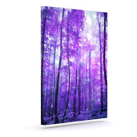 "Iris Lehnhardt ""Magic Woods"" Purple Forest Canvas Art"
