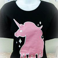 Kawaii Fairy Kei Pastel Goth Melty Unicorn Women's Tee S through 2XL