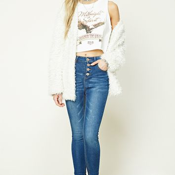 Button-Fly Skinny Jeans
