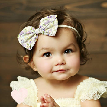 1Pc  Baby Girl Big Bows Hair Accessories Infant Baby Headband Elastic Hair Bands Hair Bows Baby Girl Headbands #3546