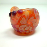 Glass Pipe, Sandblasted Full Color Beautiful Pipe, One of a Kind, Cgge Team, Ready for shipping M48