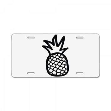 pineapple License Plate