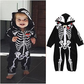 Kids Romper Baby Halloween Boys Girls Warm Infant Cool Long Sleeve Jumpsuit Cotton Festival Costume