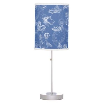 Alice in Wonderland Tea Time Blue Lamp