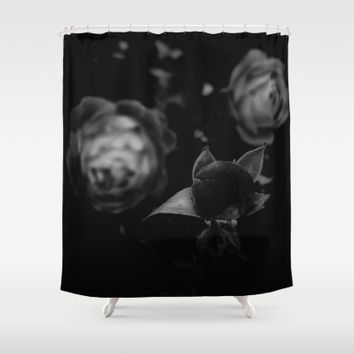 Not afraid of the Dark Shower Curtain by Ducky B