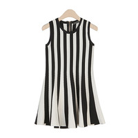 Slim Striped Sleeveless Dress