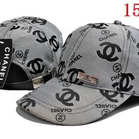 CHANEL   embroidery Strap Cap Adjustable Golf Snapback Baseball Hat