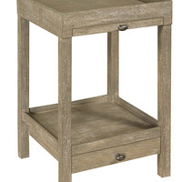 Loretto Side Table Gray Wash Finish