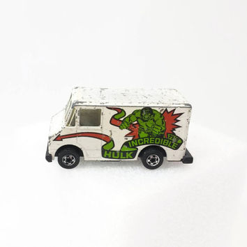 Vintage Hot Wheels Incredible Hulk Scene Machine Van, Die Cast Metal, Made in Hong Kong, Collectible Toy, Gifts for Him