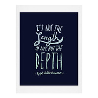 Leah Flores Depth Art Print