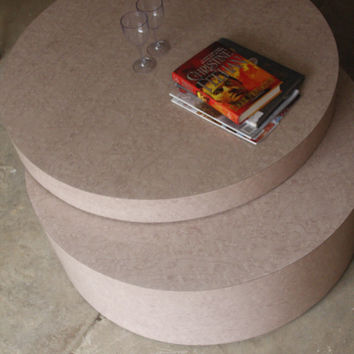 BEST OFFER SALE! Large Italian Pink/Blush Swivel/Expandable Coffee Table/Bench/Ottoman.. Karl Springer/Saporiti Style