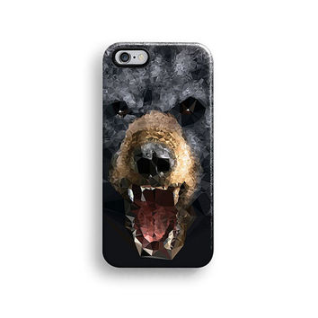 Bear iPhone 6 case, iPhone 6 plus case, matte iPhone 5s case, iPhone 5C case, iPhone 4s case, black, brown, fierce, Christmas gift 700