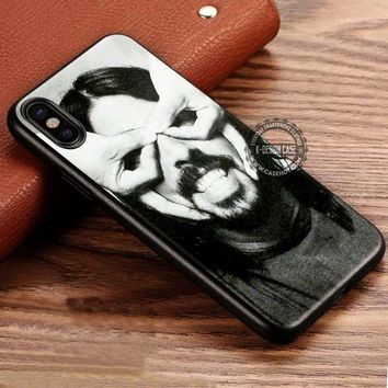 Dave Grohl Finger Mask Foo Fighters iPhone X 8 7 Plus 6s Cases Samsung Galaxy S8 Plus S7 edge NOTE 8 Covers #iphoneX #SamsungS8