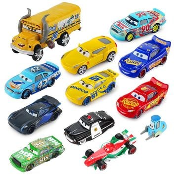 Disney Pixar Cars 3 Lightning McQueen Jackson Storm Mater 1:55 Diecast Metal Alloy Model Car Toy Birthday Gift Children Boys