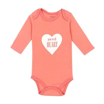 Newborn Toddler Infant Baby Girl Bodysuit Long Sleeve Jumpsuit Outfits Cotton Autumn Playsuit Red Clothes