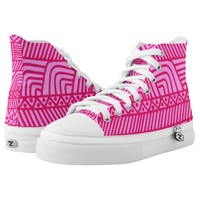 pink pattern High-Top sneakers