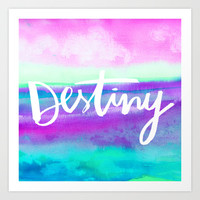 Destiny - Collaboration by Jacqueline Maldonado and Galaxy Eyes Art Print by Jacqueline Maldonado