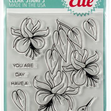 "Avery Elle Clear Stamp Set 4""X6""-Hummingbird"