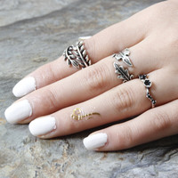 Vintage punk ring  style jewelry for women