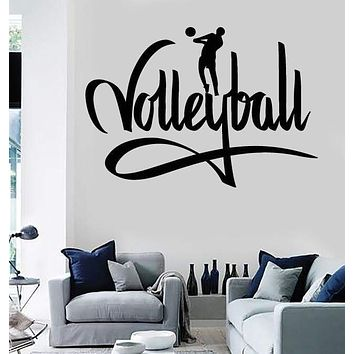 Wall Stickers Vinyl Decal Sports Player Volleyball I Love Volleyball (z1144)