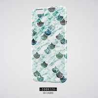 Marble iPhone Case, Blue Marble iPhone 8 Case, Fish Scale Samsung Galaxy S8 Case, Mermaid iPhone 6 Plus Case, Girlfriend iPhone 7 Plus Case
