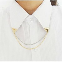 Triangle Chain Brooch Collar
